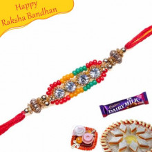 Diamond beads Pearl rakhi