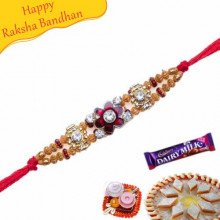 Crystal Beads Jewelled Rakhi