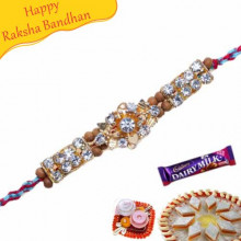 Sandalwood with American Diamond Bracelet Rakhi