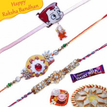 Diamond and Chota Bheem Rakhis Trio