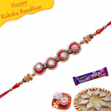 Ruby American Diamond Rakhi