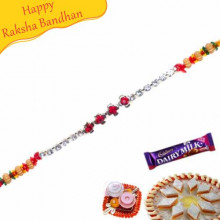 Silver Jewelled Rakhi
