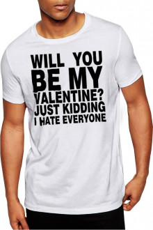Will You Be My Valentine - Cotton Tshirt for Valentines Day Buy Online