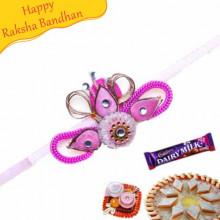 Flower Shape Thread Rakhi