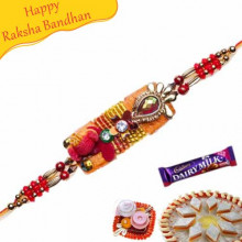 MULTICOLOUR BEADS, CRYSTAL ZARDOSHI RAKHI