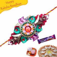 Flower Shaped Mauli Rakhi
