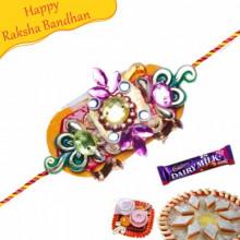 Metal Hoops And Beads Rakhi