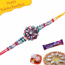 Crystal And American Diamond Jewelled Rakhi